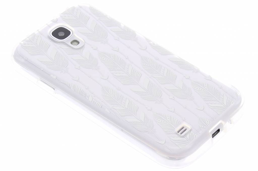 Feathers transparant TPU hoesje voor de Samsung Galaxy S4