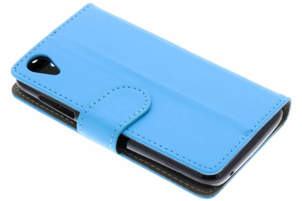 Blauwe luxe booktype hoes voor de Wiko Sunny 2
