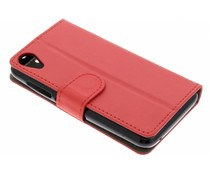 Rood luxe booktype hoes Wiko Sunny 2