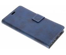 Blauw Vintage look booktype Asus ZenFone 4 Selfie Pro