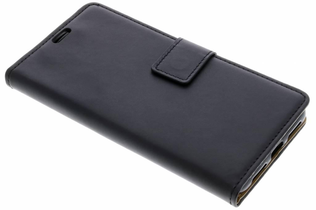 Zwarte basic TPU booktype hoes voor de Asus Zenfone 4 Max / 4 Max Plus