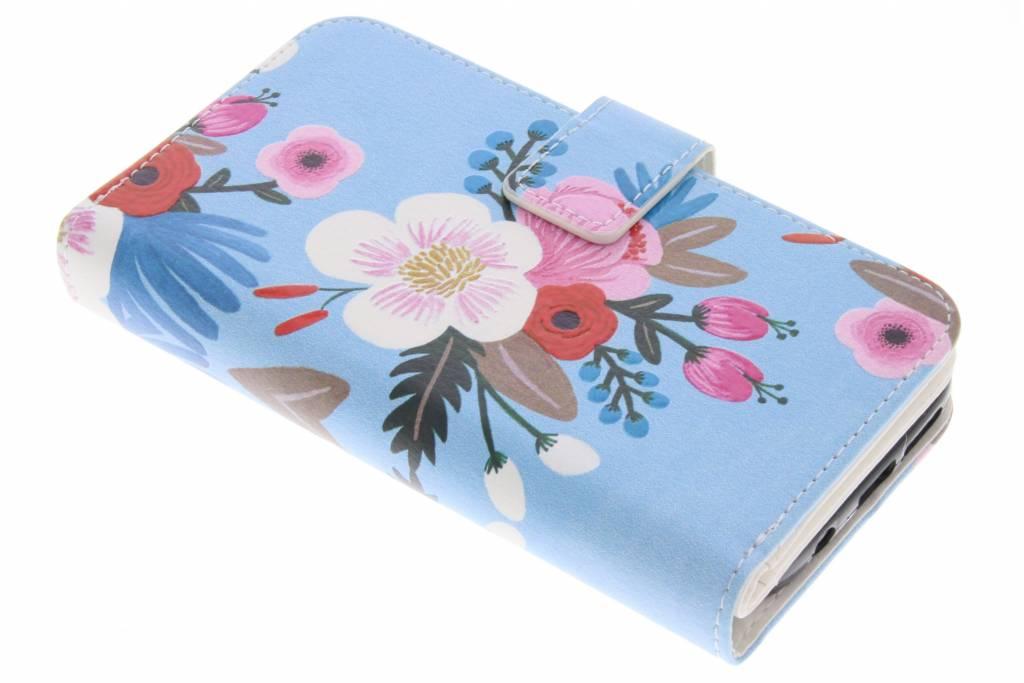 Bloemen design TPU portemonnee voor de Samsung Galaxy S7