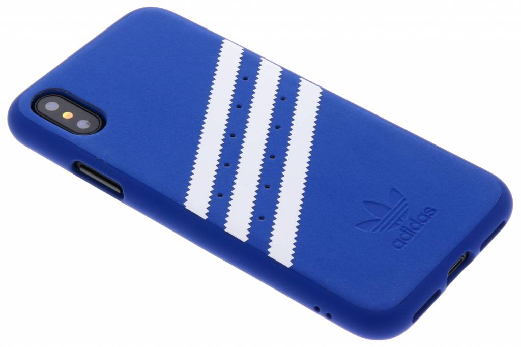 adidas Originals Blauwe Moulded Suède Case voor de iPhone Xs / X