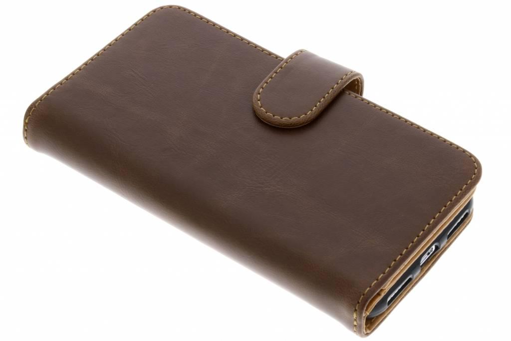 Bruine 11-vaks Wallet Case voor de iPhone Xs / X