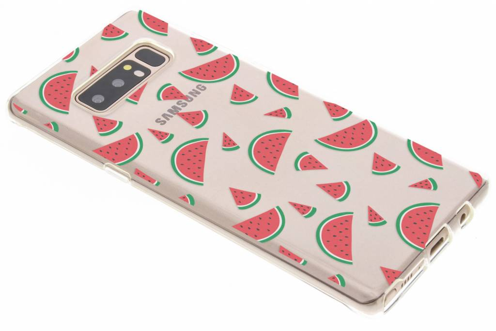 Transparant watermeloen design TPU hoesje voor de Samsung Galaxy Note 8