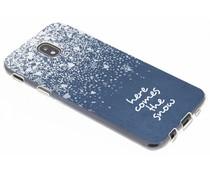 Sneeuw design siliconen hoesje Samsung Galaxy J5 (2017)