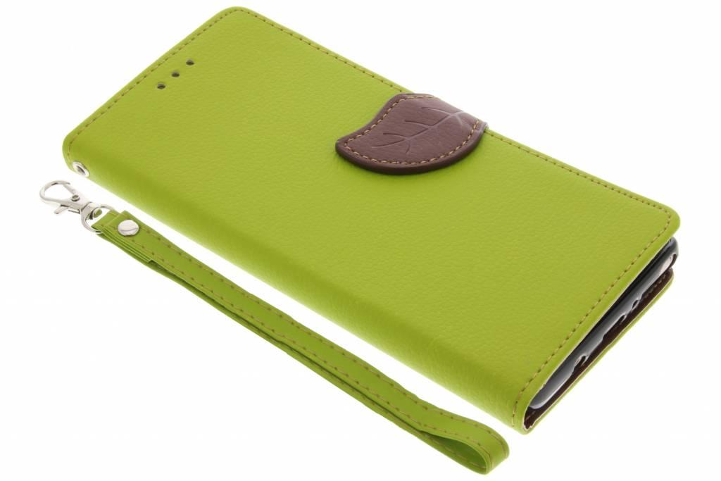 Groene blad design TPU booktype voor de Samsung Galaxy Note 8