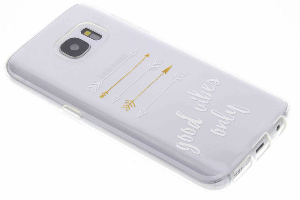 Good vibes only transparant festival TPU hoesje voor de Samsung Galaxy S7
