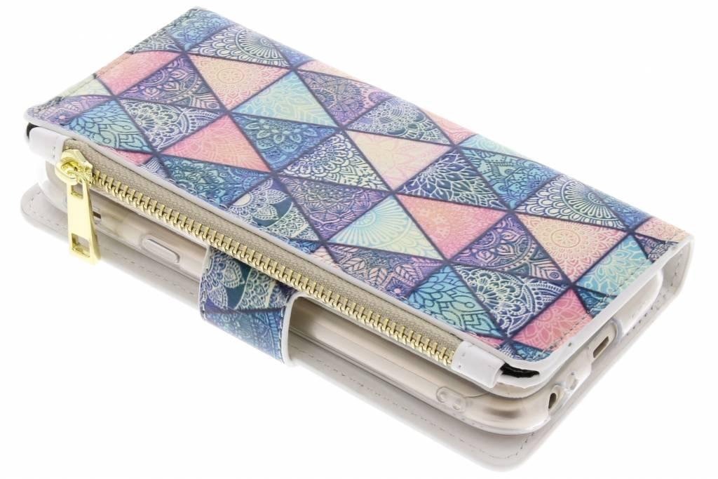Triangels design luxe portemonnee hoes voor de Samsung Galaxy J3 (2017)