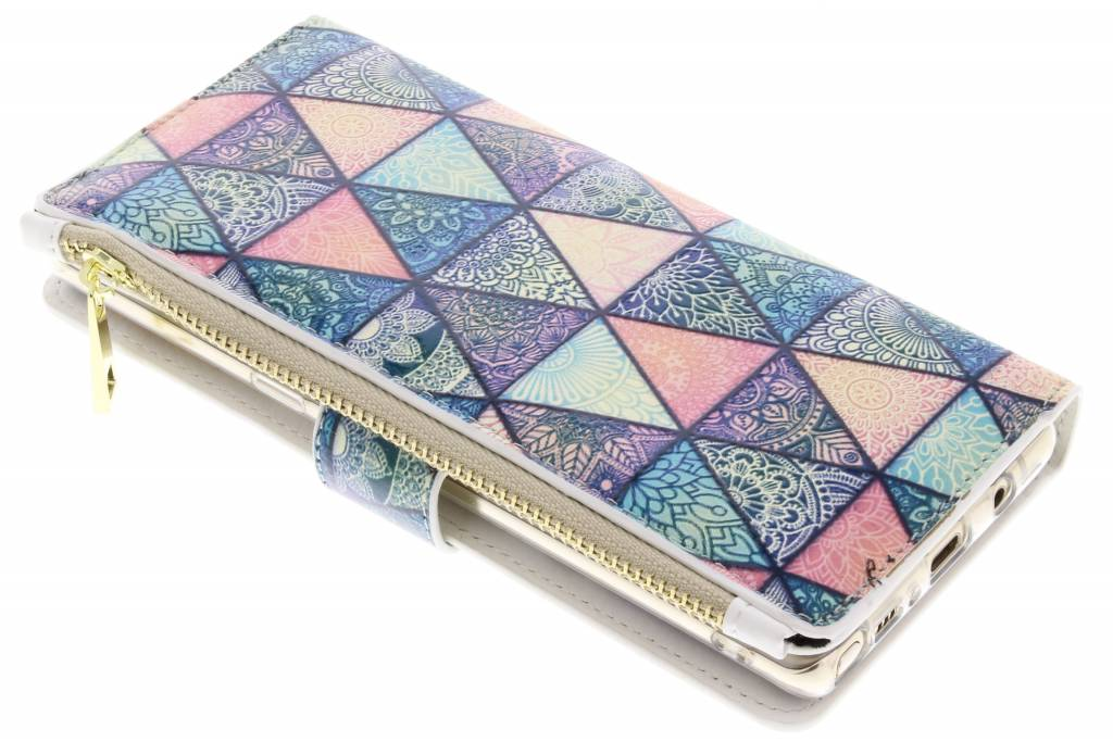 Triangels design luxe portemonnee hoes voor de Samsung Galaxy Note 8