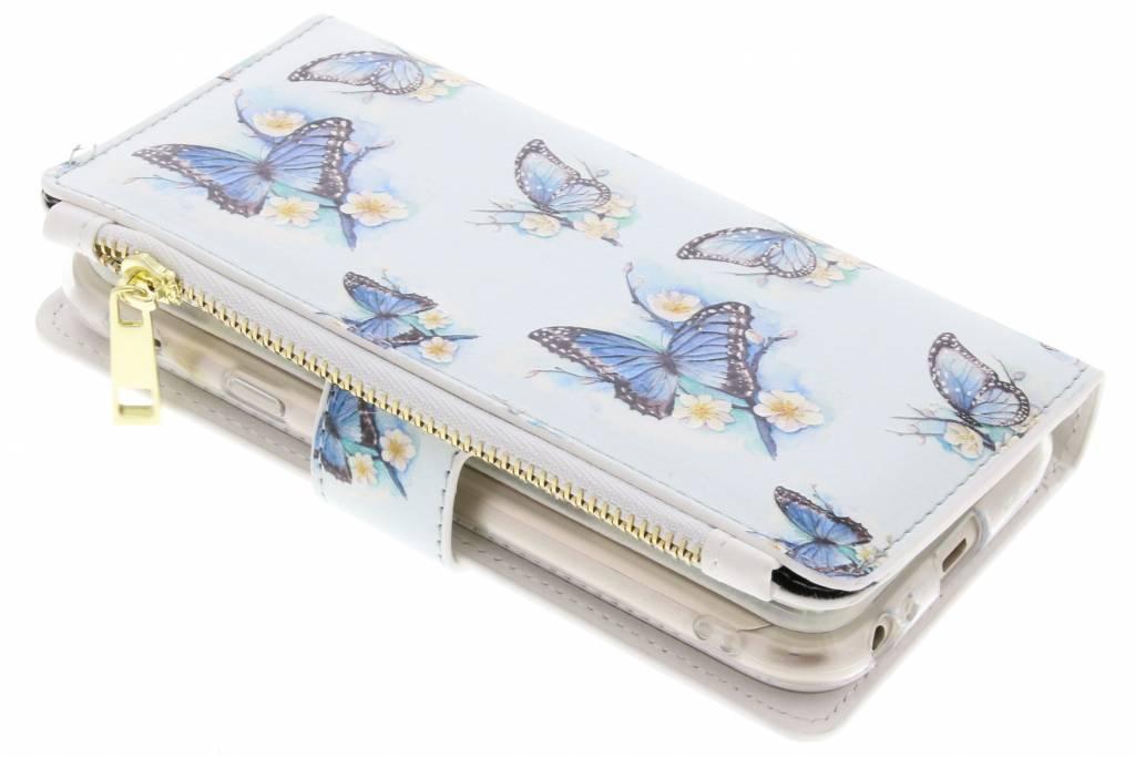 Vlinders design luxe portemonnee hoes voor de Samsung Galaxy J3 (2017)