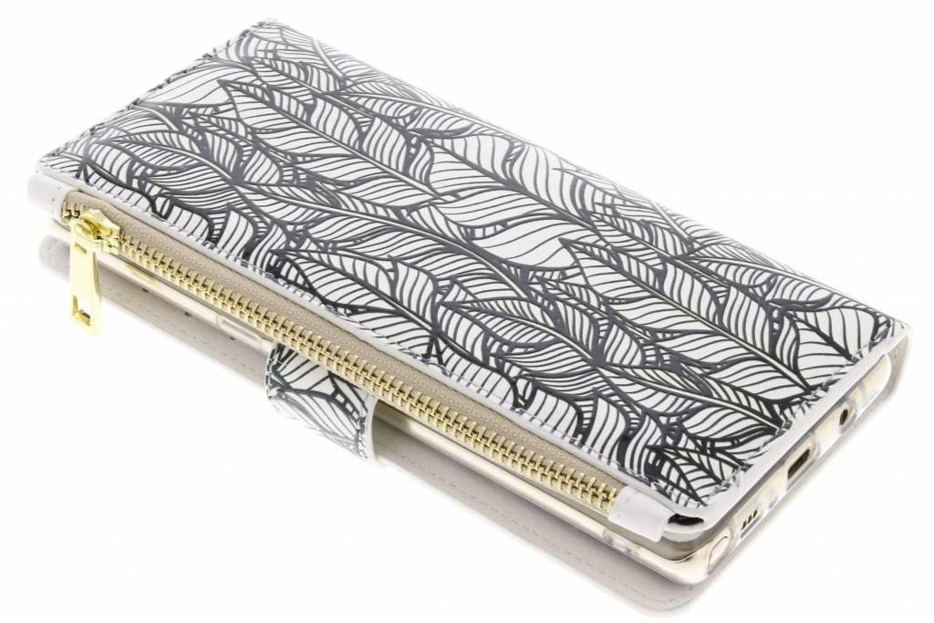 Feathers design luxe portemonnee hoes voor de Samsung Galaxy Note 8
