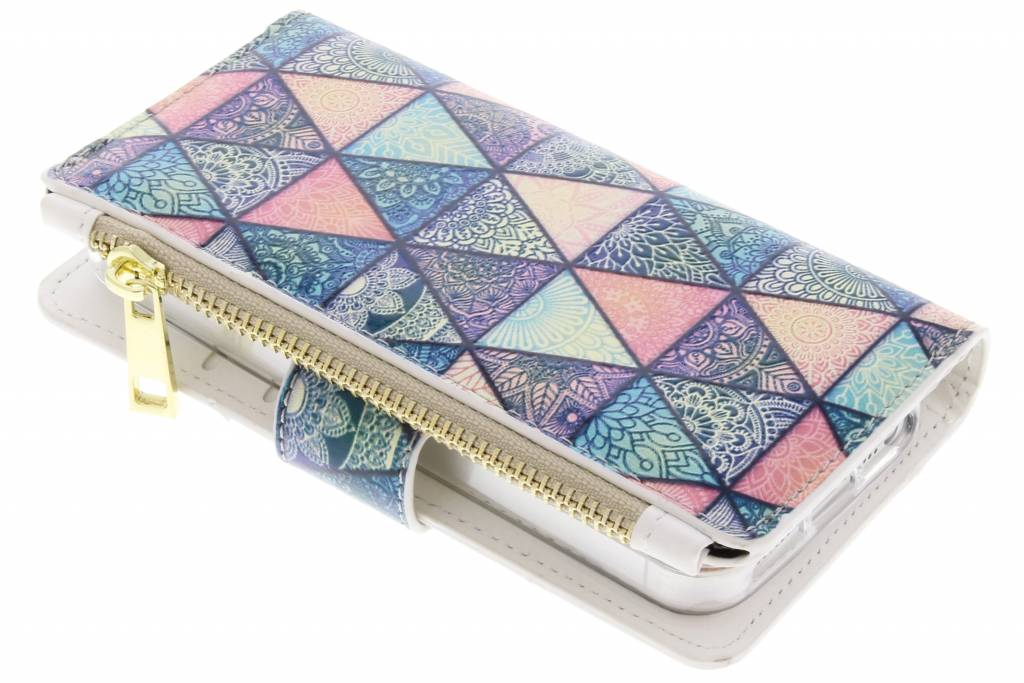 Triangels design luxe portemonnee hoes voor de iPhone 5 / 5s / SE