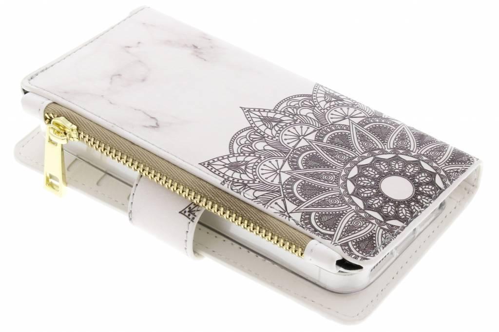 Mandala marmer design luxe portemonnee hoes voor de iPhone 5 / 5s / SE