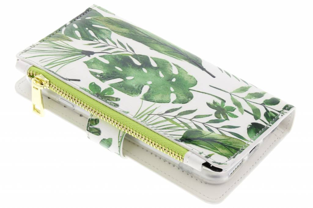 Monstera design luxe portemonnee hoes voor de iPhone 8 / 7