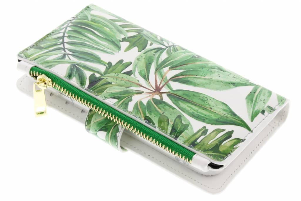 Bladeren design luxe portemonnee hoes voor de iPhone 8 / 7