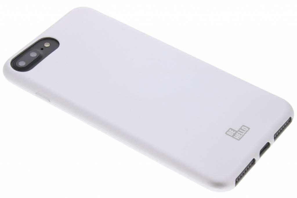 Zilveren Soft Touch Gel Case voor de iPhone 8 Plus / 7 Plus / 6(s) Plus