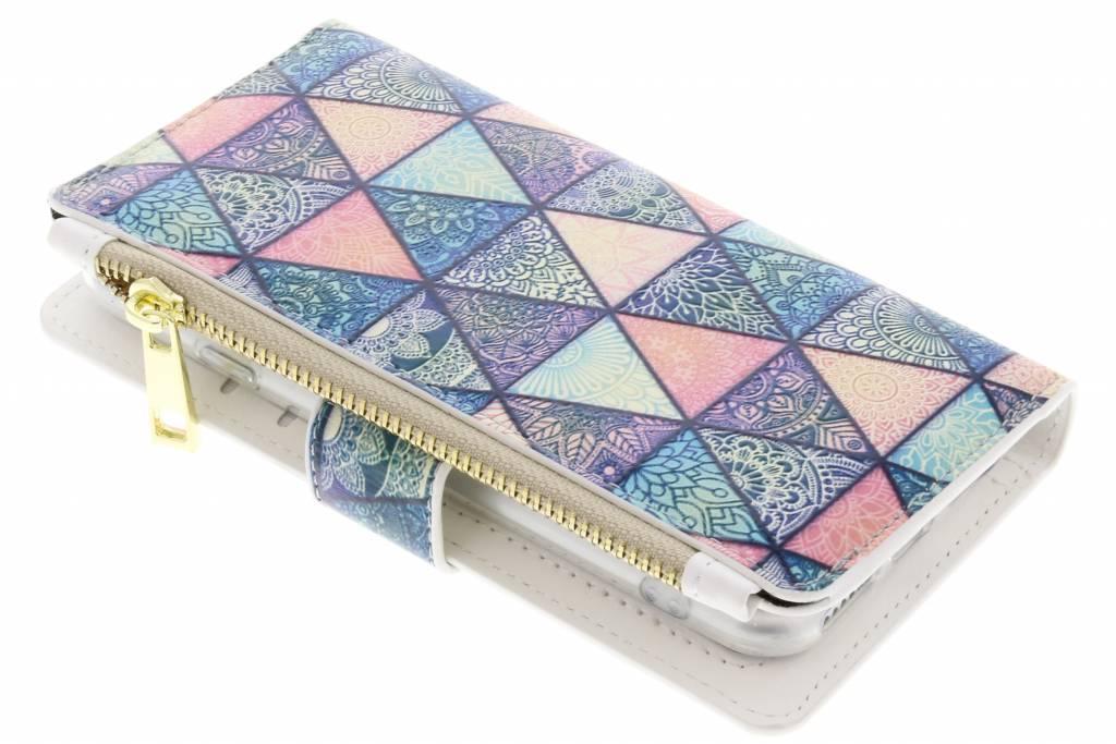 Triangels design luxe portemonnee hoes voor de iPhone 8 / 7