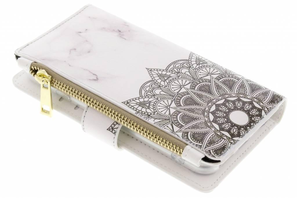 Mandala marmer design luxe portemonnee hoes voor de iPhone 8 / 7