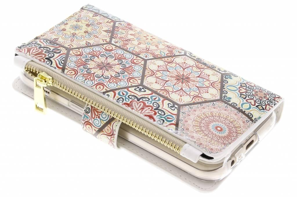 Hippie design luxe portemonnee hoes voor de Samsung Galaxy A5 (2017)