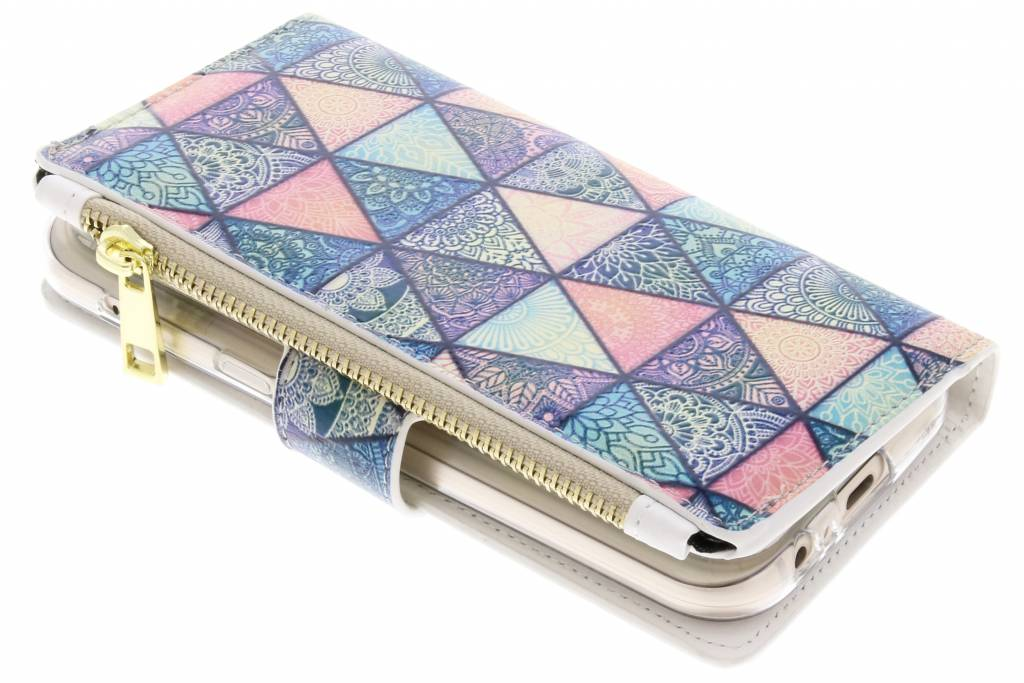 Triangels design luxe portemonnee hoes voor de Samsung Galaxy A5 (2017)