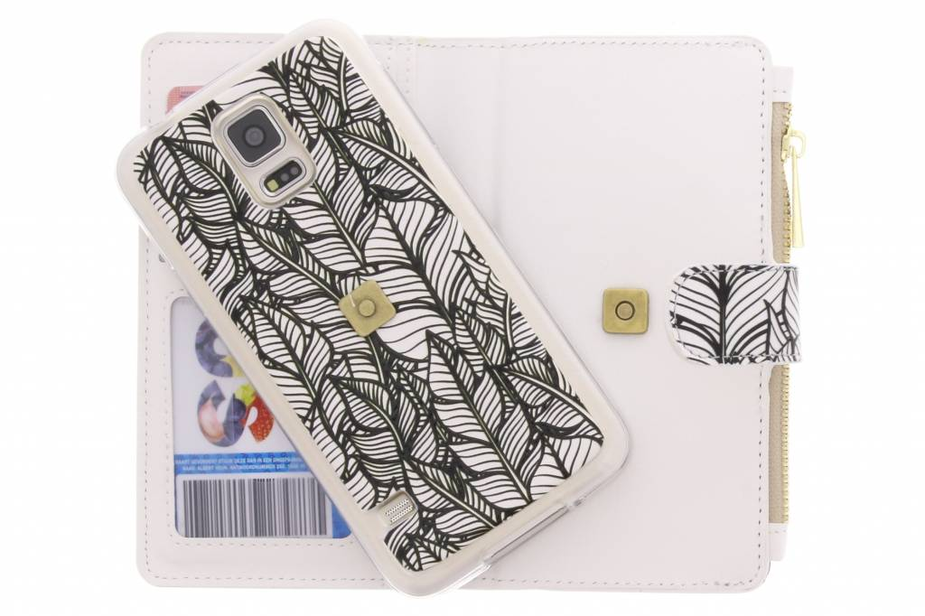Plumes Portefeuille Luxe Design Case Tpu Pour Samsung Galaxy S5 (plus) / Neo 8OxbVgOT5p