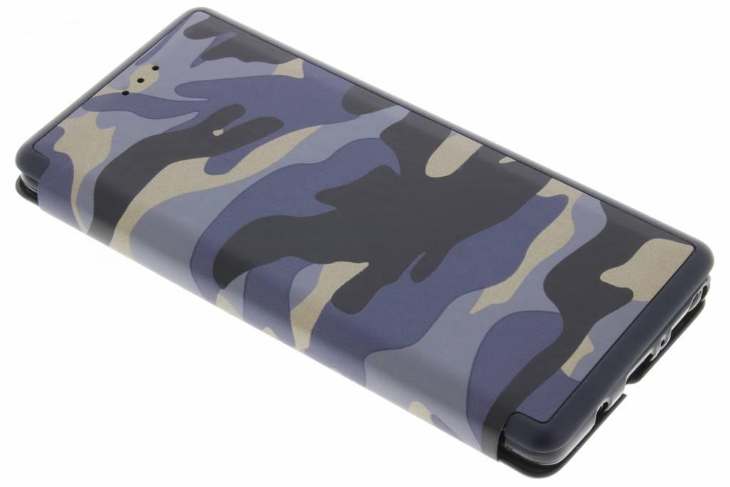 Blauwe Army Slim Folio Case voor de Samsung Galaxy Note 8