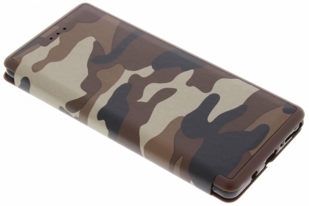 Bruine Army Slim Folio Case voor de Samsung Galaxy Note 8