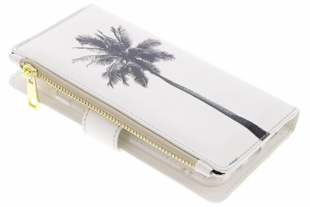 Palmtree design luxe portemonnee hoes voor de General Mobile GM6