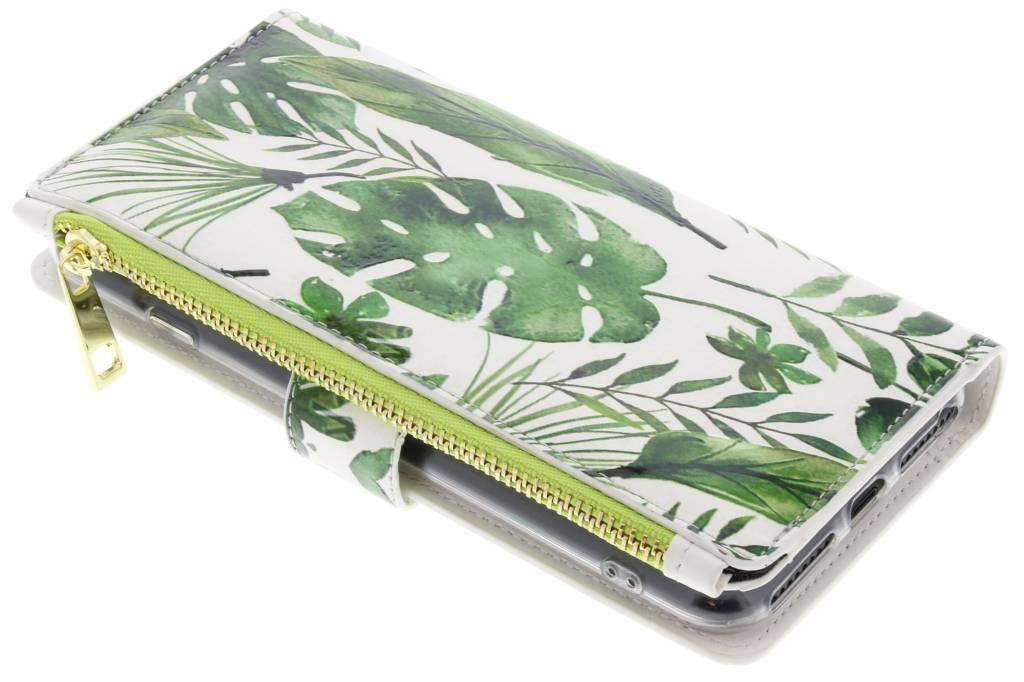 Monstera design luxe portemonnee hoes voor de iPhone 8 Plus / 7 Plus
