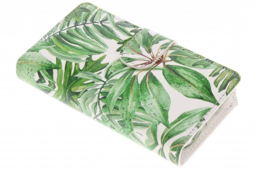 Bladeren design luxe portemonnee hoes voor de iPhone 5 / 5s / SE
