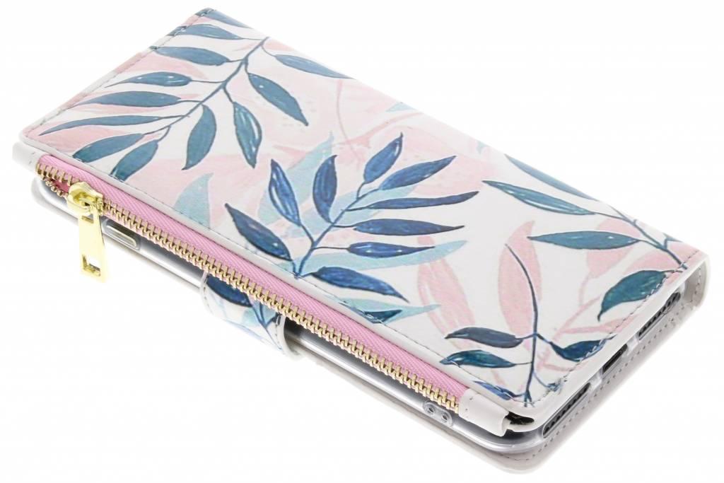 Gekleurde bladeren design luxe portemonnee hoes voor de iPhone 8 Plus / iPhone 7 Plus