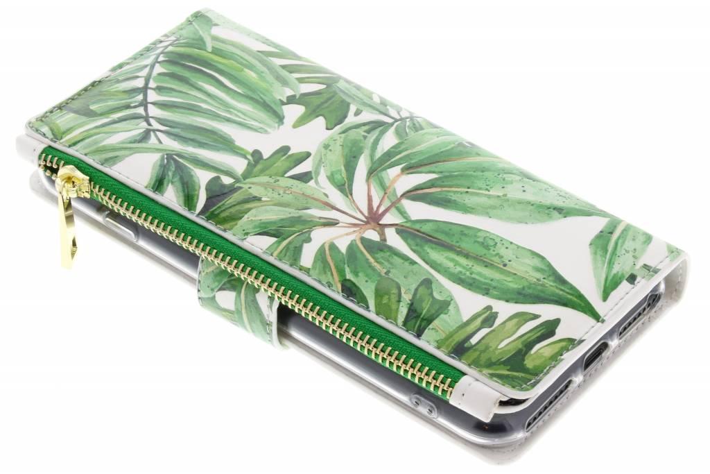 Bladeren design luxe portemonnee hoes voor de iPhone 8 Plus / iPhone 7 Plus