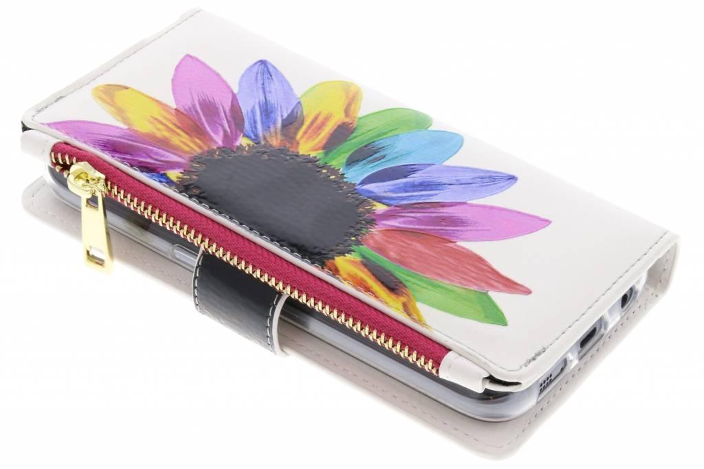Regenboog design luxe portemonnee hoes voor de Samsung Galaxy S7