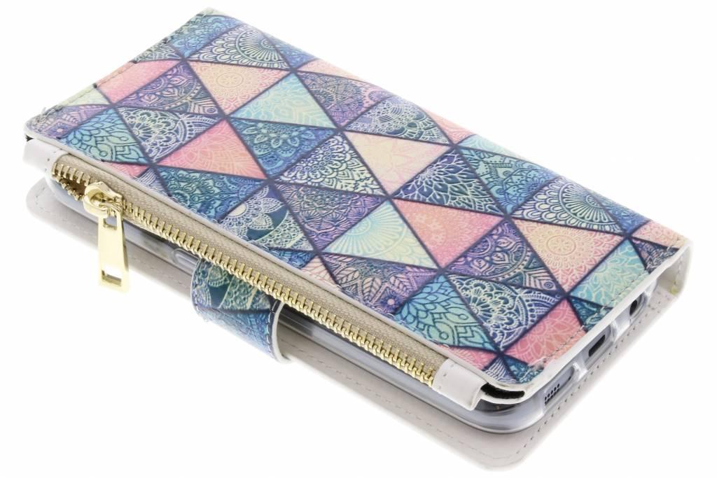 Triangle design luxe portemonnee hoes voor de Samsung Galaxy S7