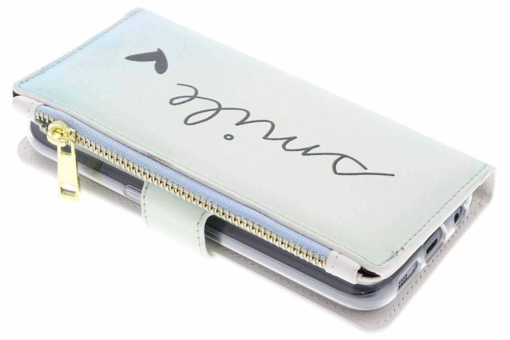 Smile design luxe portemonnee hoes voor de Samsung Galaxy S7