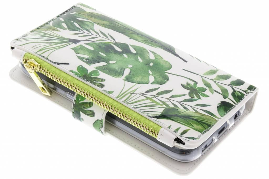 Monstera design luxe portemonnee hoes voor de Samsung Galaxy S7