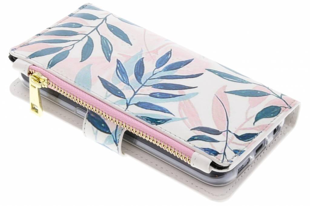 Gekleurde bladeren design luxe portemonnee hoes voor de Samsung Galaxy S7