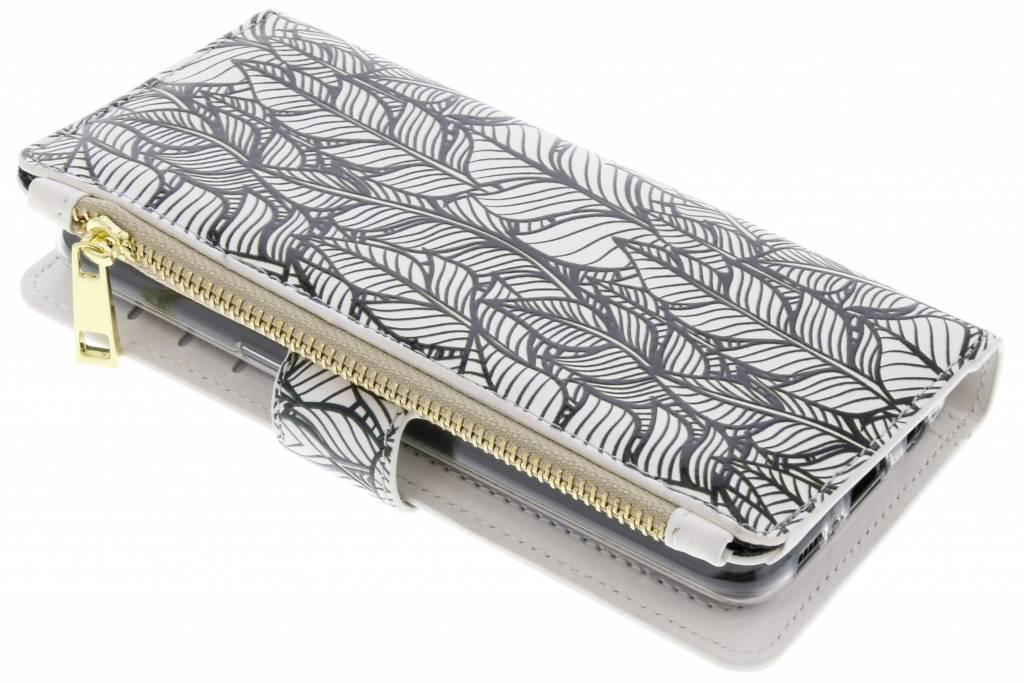 Feathers design luxe portemonnee hoes voor de Samsung Galaxy S8