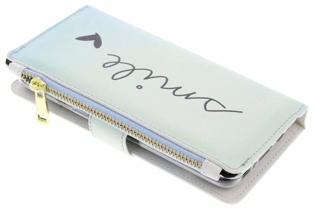 Smile design luxe portemonnee hoes voor de Samsung Galaxy S8