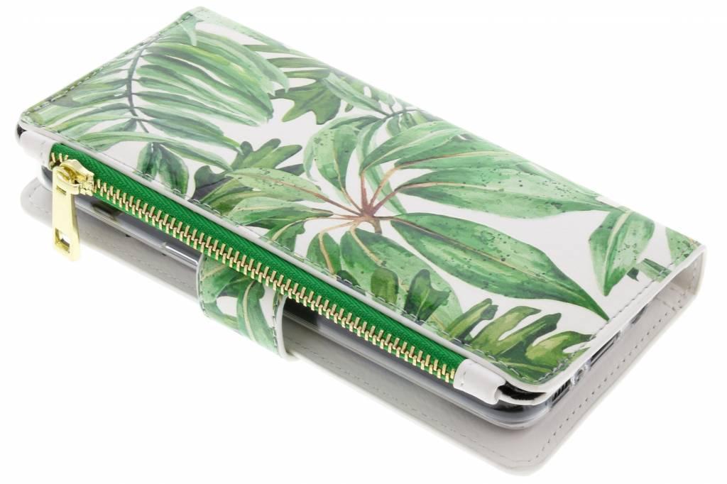 Bladeren design luxe portemonnee hoes voor de Samsung Galaxy S8