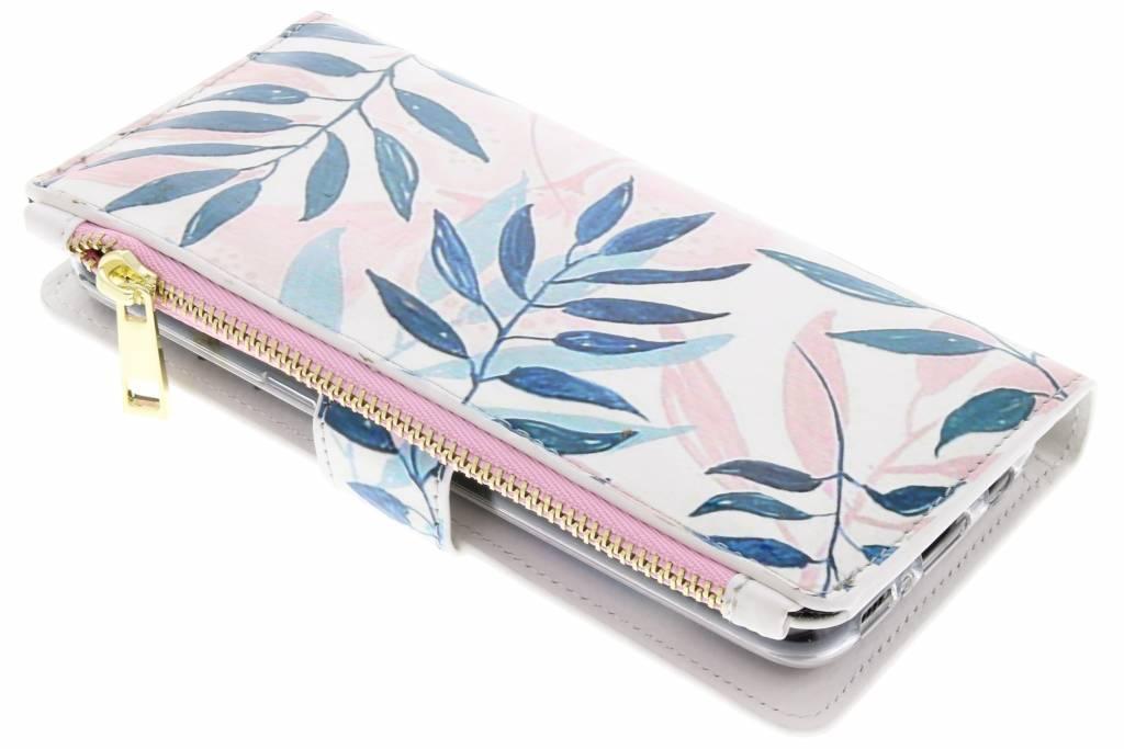 Gekleurde bladeren design luxe portemonnee hoes voor de Samsung Galaxy S8
