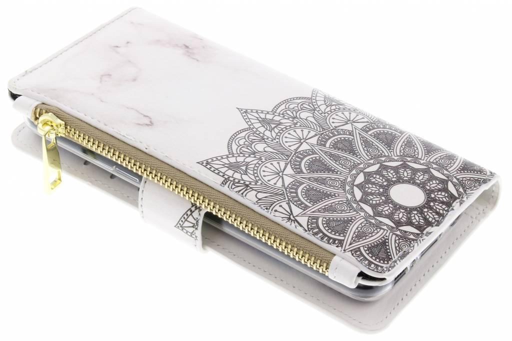 Mandala marmer design luxe portemonnee hoes voor de Samsung Galaxy S8