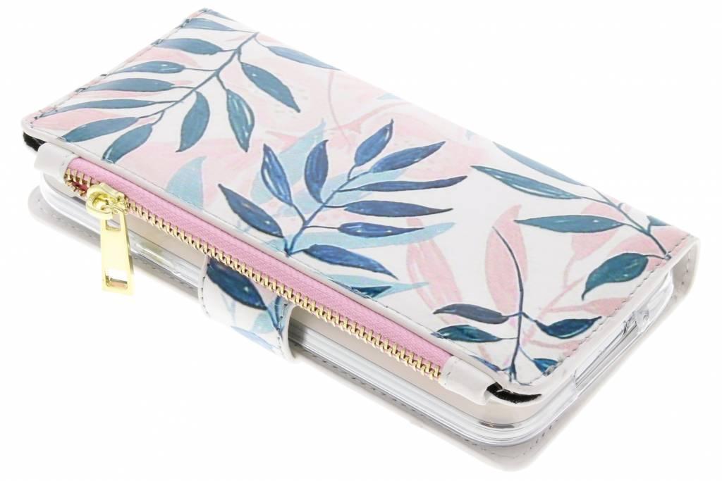 Gekleurde bladeren design luxe portemonnee hoes voor de Galaxy S5 (Plus) / Neo
