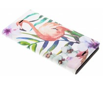 Flamingo Design Booklet Sony Xperia XZ1