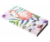 Flamingo Design Booklet Sony Xperia XZ1 Compact