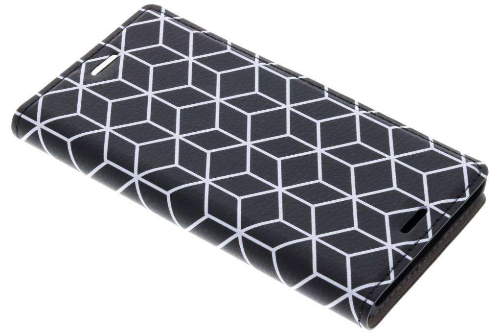 Cubes Black Design Booklet voor de Sony Xperia XZ1 Compact