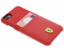 Ferrari Rood Carbon Card Hardcase iPhone 8 / 7