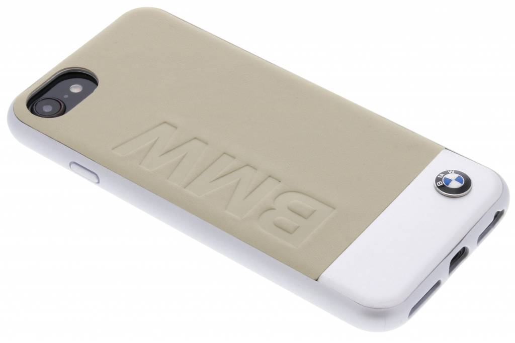 BMW Beige Logo Leather Hard Case voor de iPhone 8 / 7