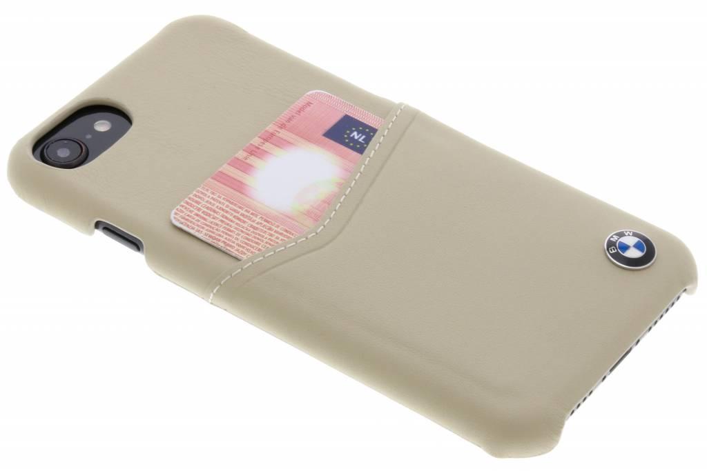 BMW Beige Real Leather Card Case voor de iPhone 8 / 7 / 6s / 6